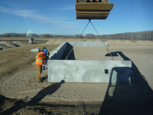 Dyke Wall Tank Farm Installation